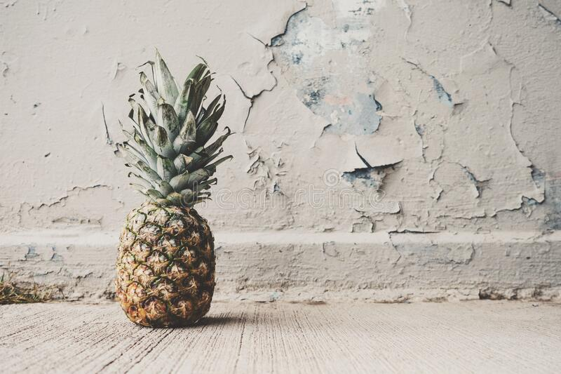 Pineapple Beside Concrete Wall Free Public Domain Cc0 Image