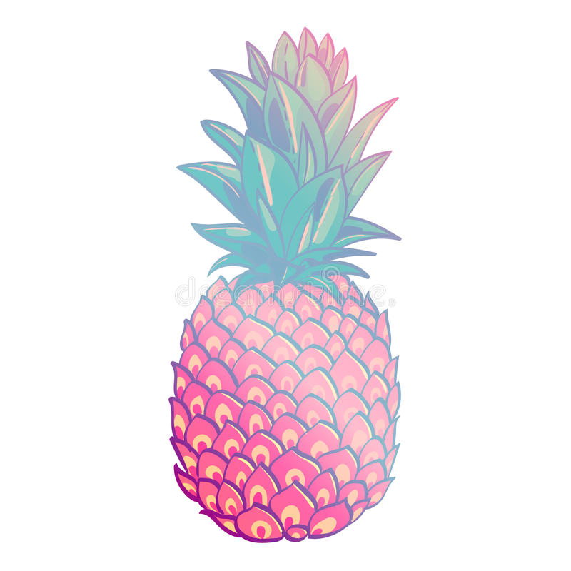 Free Pineapple Creative Trendy Art Poster. Royalty Free Stock Images - 87997309