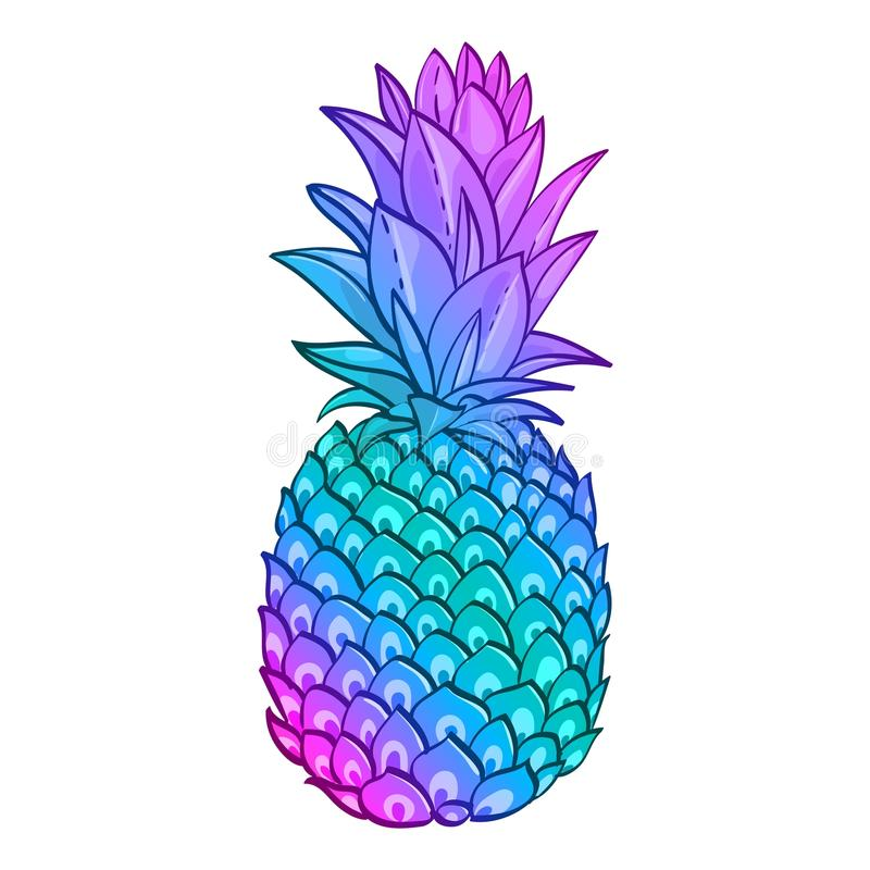 Free Pineapple Creative Trendy Art Poster. Stock Photo - 88002050