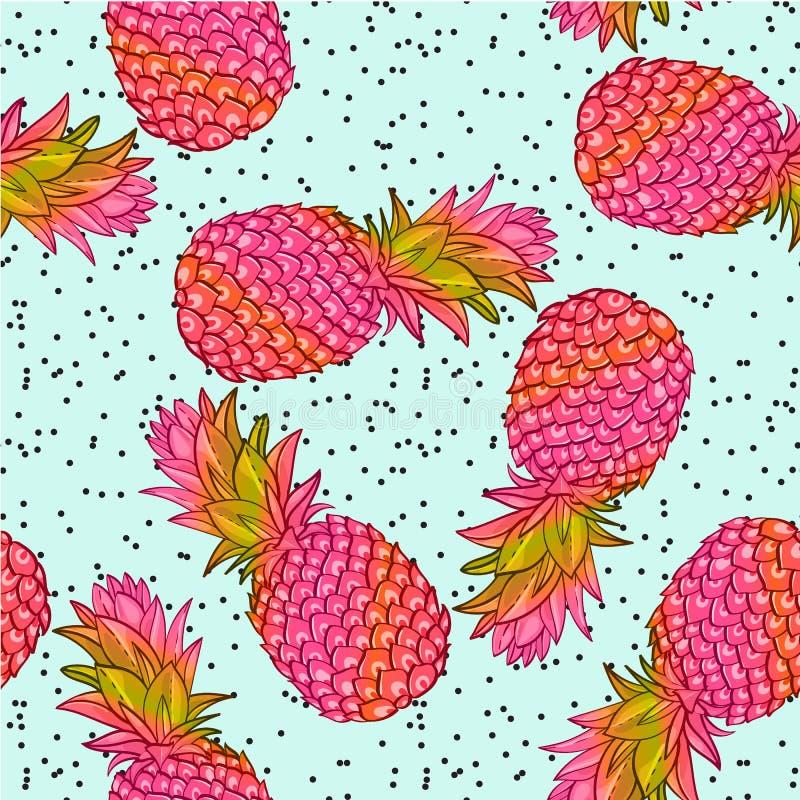 Free Pineapple Creative Trendy Seamless Pattern Stock Photos - 87997203