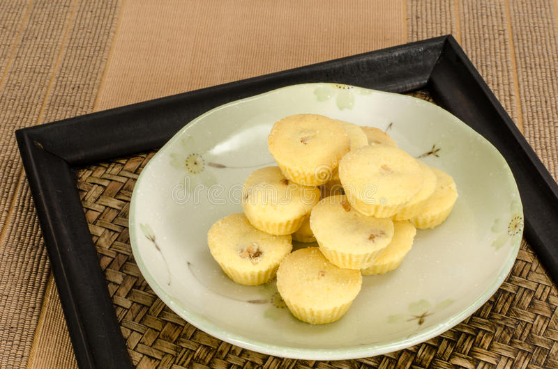Pineapple cup cookie royalty free stock images