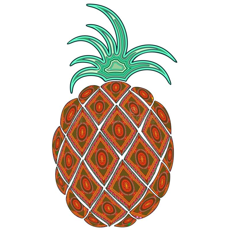 Download Pineapple Doodle Indian Pattern Stock Photo - Image of indian, juicy: 71320316