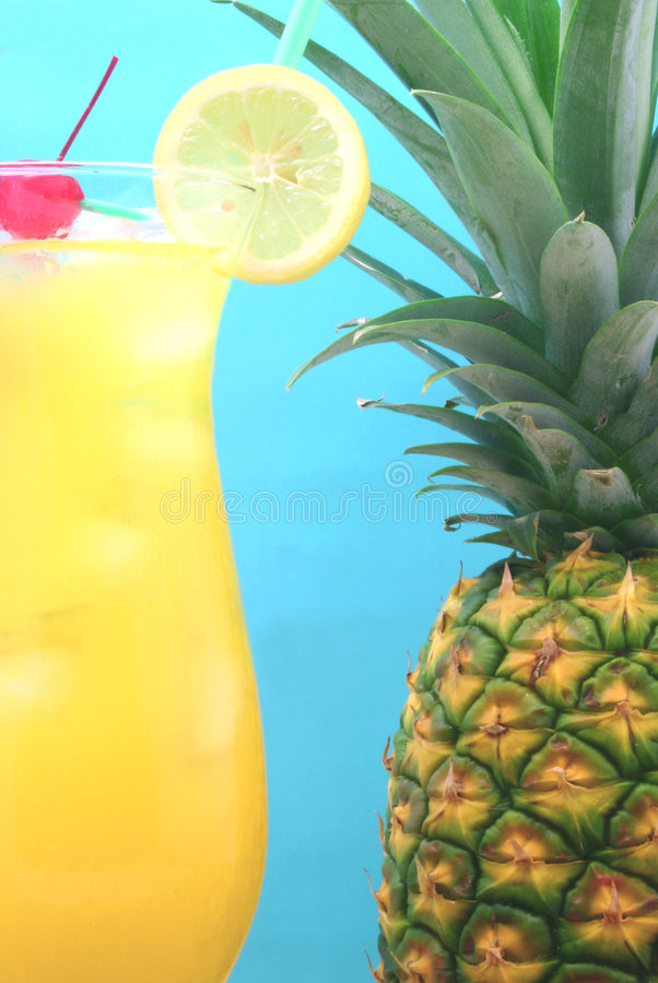 Pineapple and Drink stock photography
