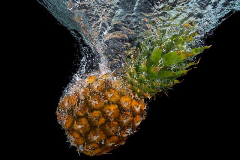 Pineapple fall water stock photos