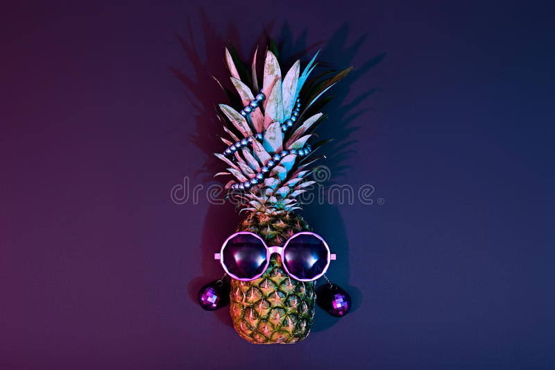 Pineapple Fashion Hipster Party Mood. Art Gallery royalty free stock photos