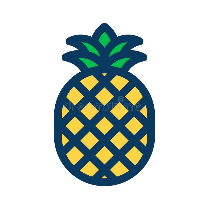 WebPineapple filled outline icon, line vector sign, linear colorful pictogram isolated on white. Pineapple filled outline icon, line vector sign, linear colorful vector illustration