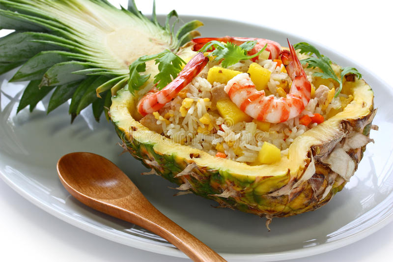 Pineapple fried rice stock photography