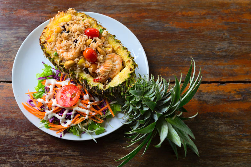 Pineapple Fried Rice. On table koh chang royalty free stock photography