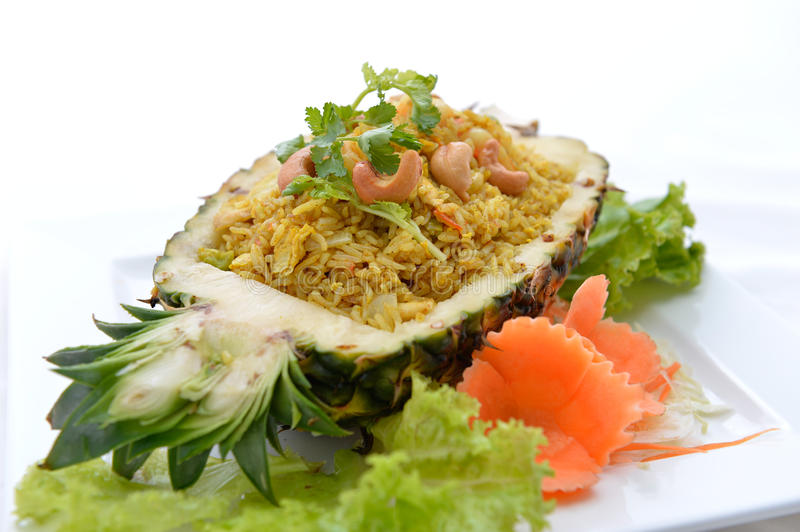 Pineapple fried rice. Thai food royalty free stock images