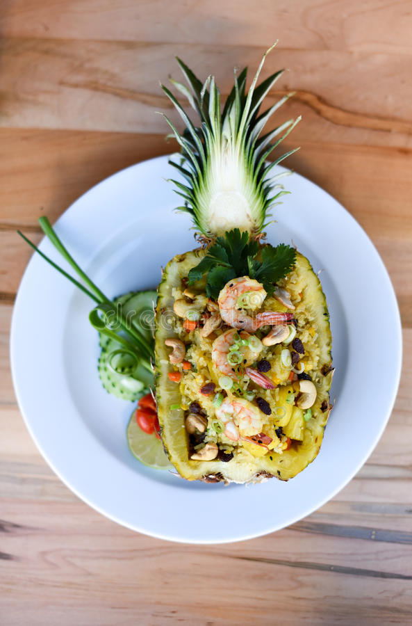 Pineapple Fried Rice. In Thai Style royalty free stock photos