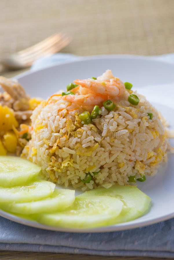 Pineapple fried rice , thai style. Photo royalty free stock images