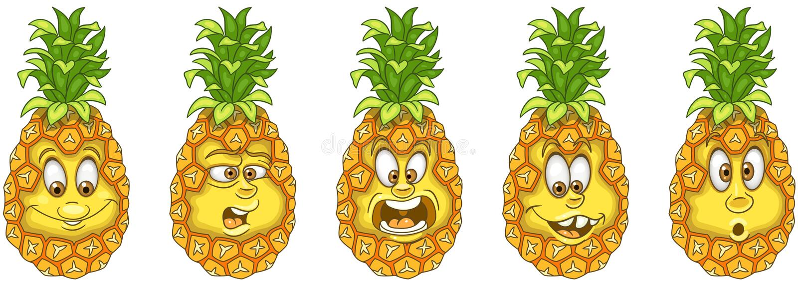 Pineapple. Fruit Food concept stock photos