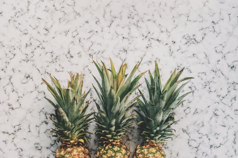 3 Pineapple Fruit On White And Grey Sand Free Public Domain Cc0 Image