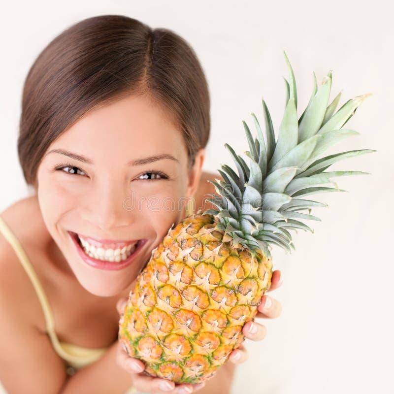 Download Pineapple fruit woman stock photo. Image of bright, beautiful - 17719676