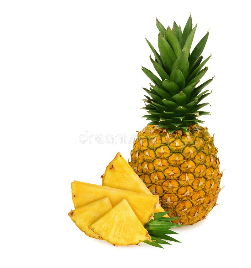 Pineapple isolated on white background.  stock photo