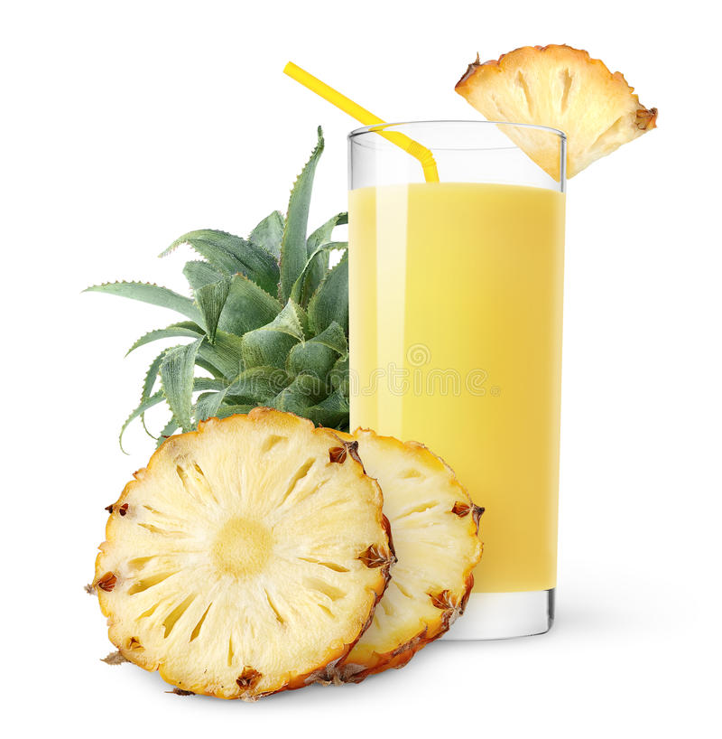 Isolated pineapple juice royalty free stock photo