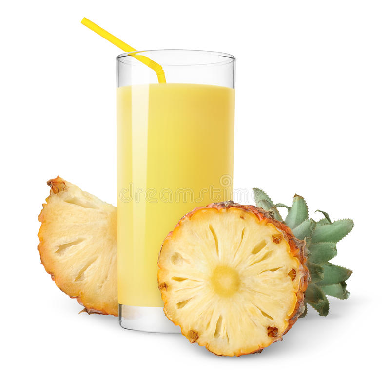 Isolated pineapple juice royalty free stock photography
