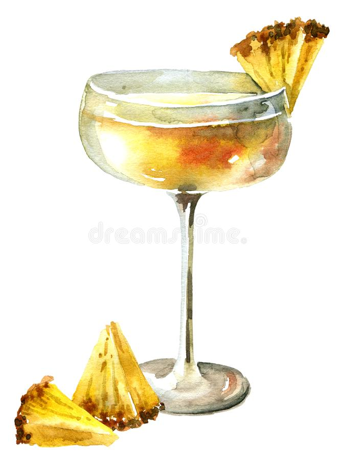 Pineapple juice cocktail stock photography