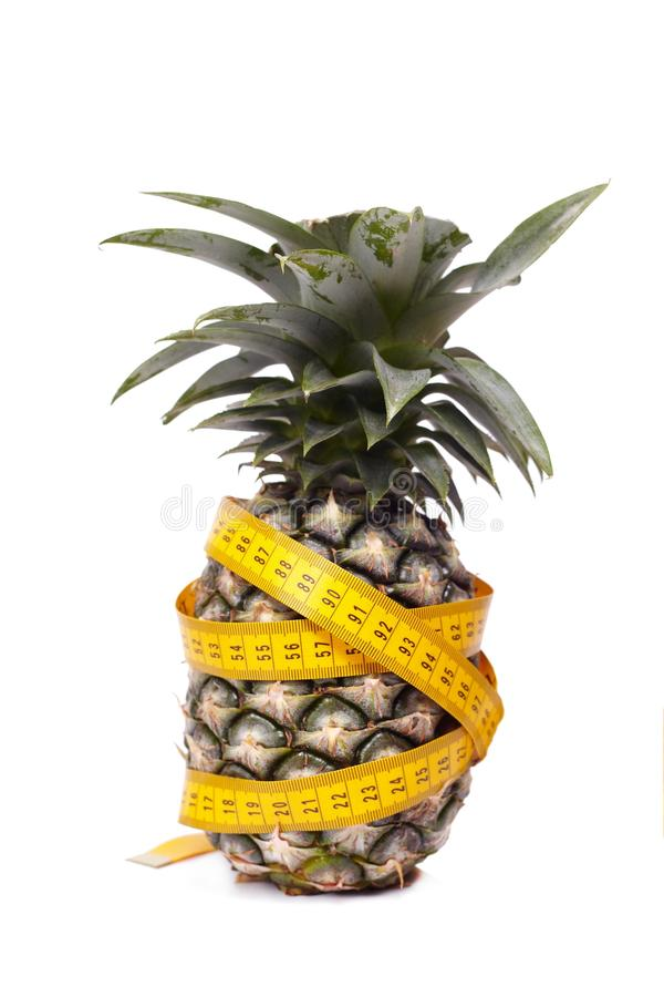 Pineapple with measure line