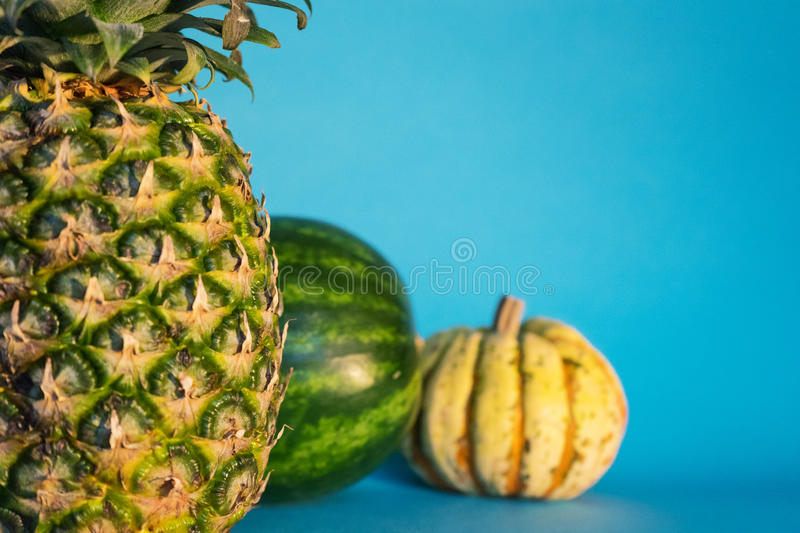 Pineapple Melon And Pumpkin Free Public Domain Cc0 Image