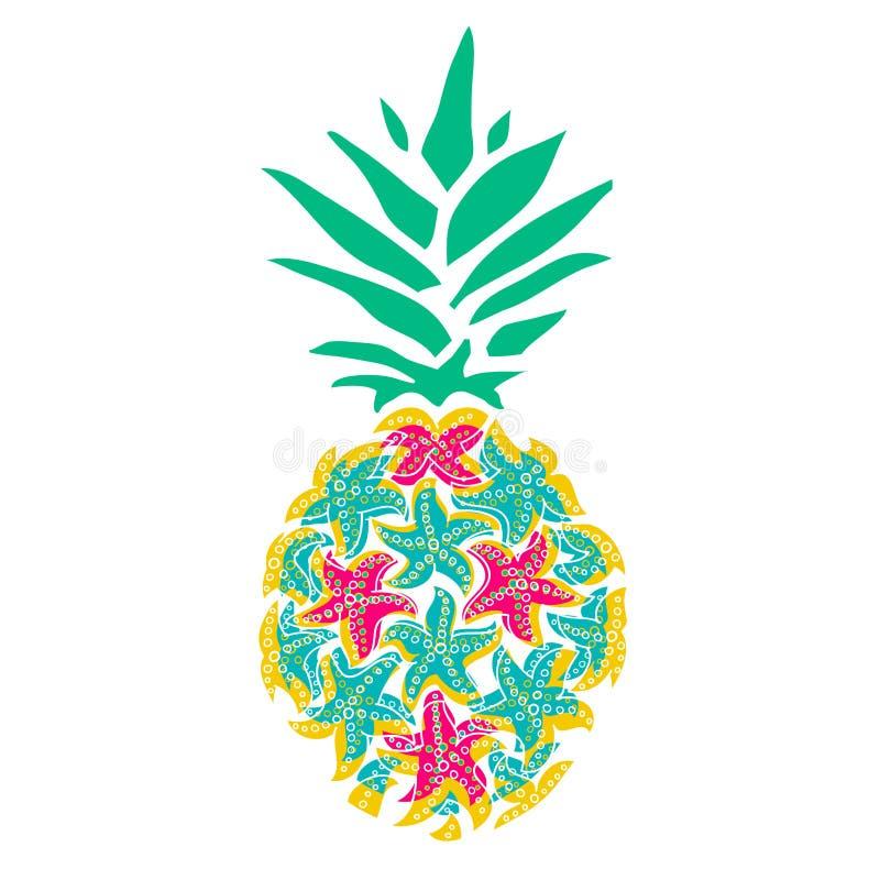 Free Pineapple Of Sea Stars. Beautiful Illustration With Starfish For Decorative Design Stock Photos - 214868763