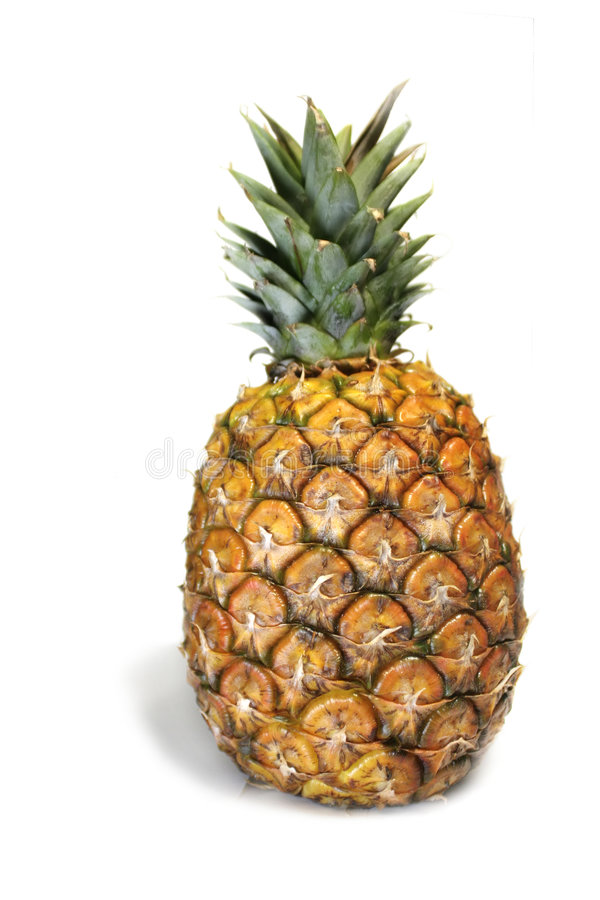 Pineapple over white stock photos