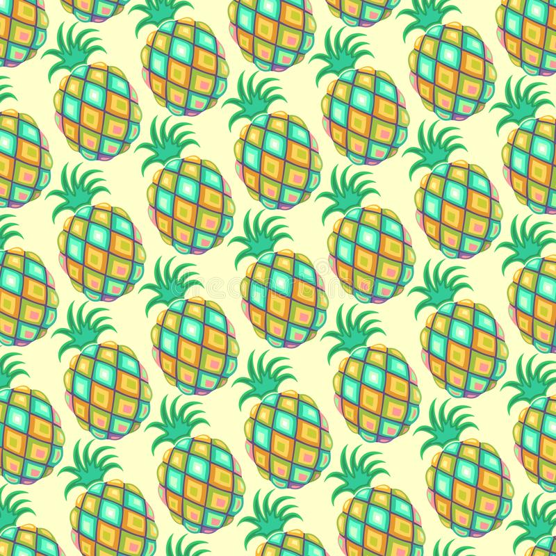 Download Pineapple Pastel Colors Pattern Stock Vector - Illustration of pastel, stylized: 71313822