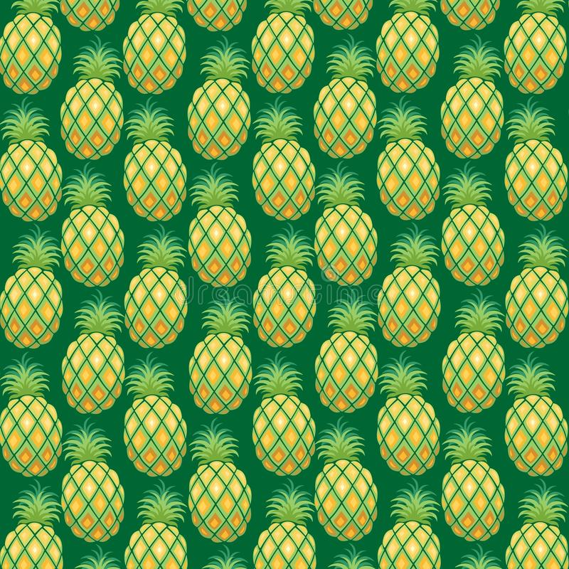 Download Pineapple Pattern Fabric Vector Stock Vector - Illustration: 72201814