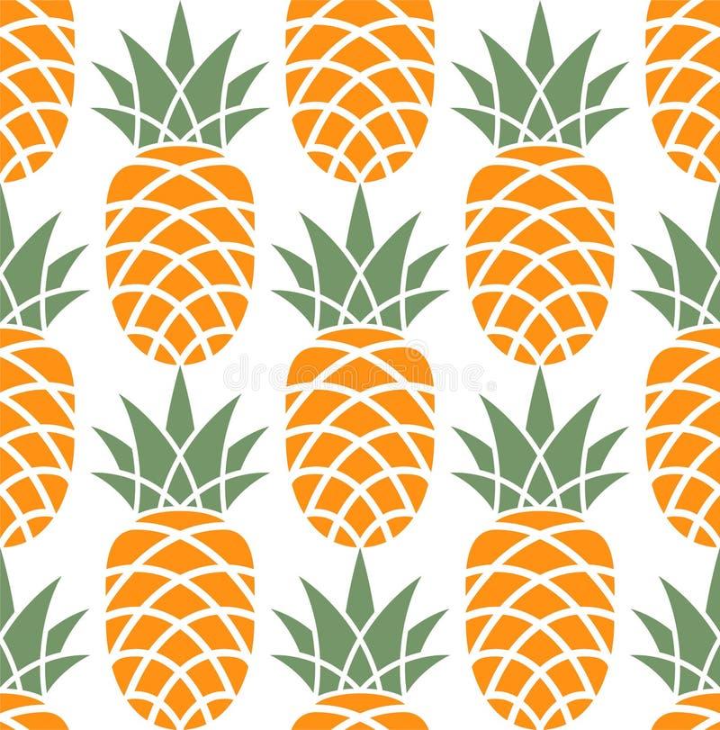 Pineapple. Pattern stock illustration