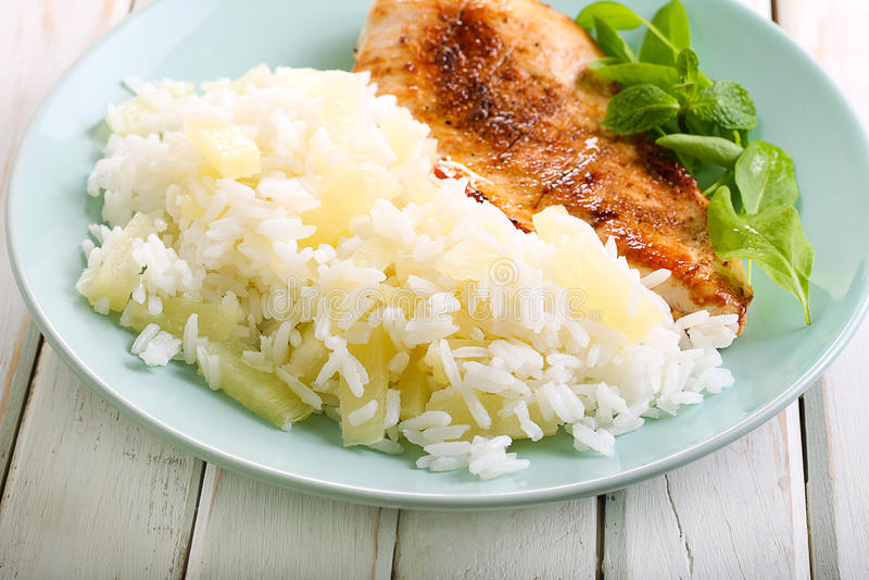 Pineapple rice royalty free stock image