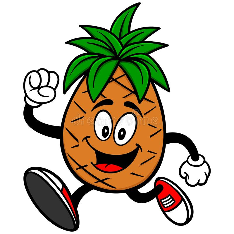 Pineapple Running. A vector illustration of a Pineapple Running vector illustration