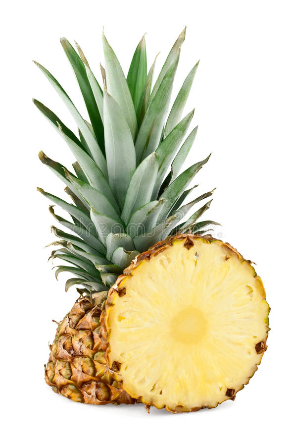Pineapple and slice royalty free stock image