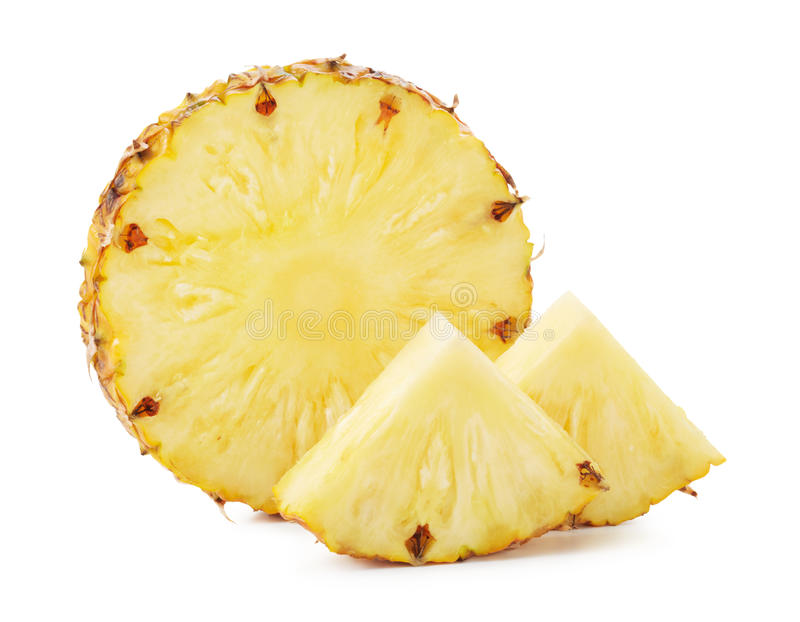 Pineapple slices royalty free stock images