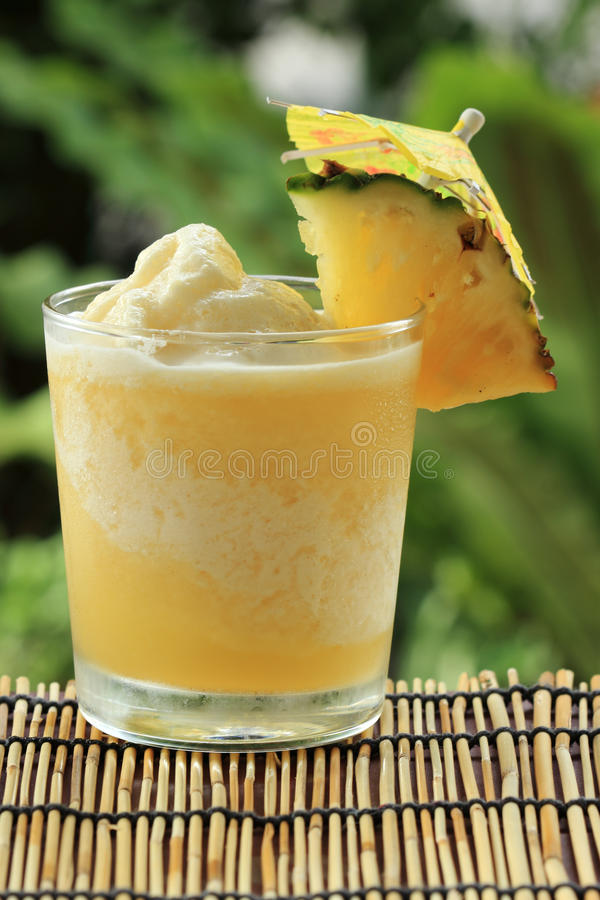 Pineapple Smoothie royalty free stock photos