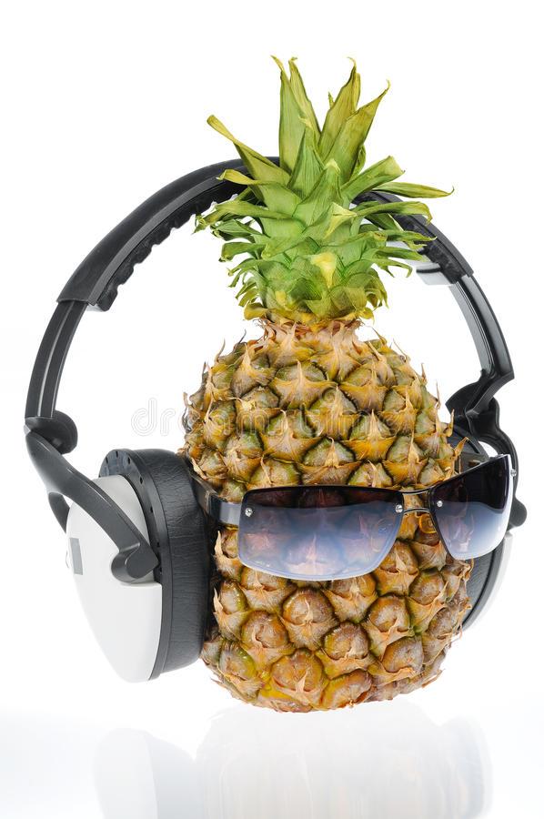 Download Pineapple in sun glasses stock photo. Image of refreshment - 14832032
