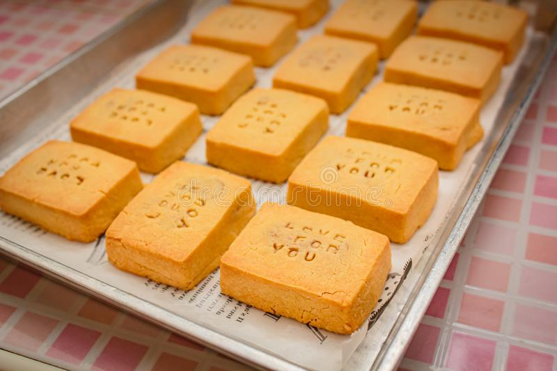 Pineapple Tarts or Pineapple cake is a sweet traditional Taiwanese pastry stock images