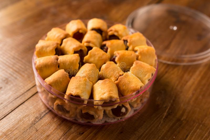 Pineapple tarts cookies royalty free stock photos