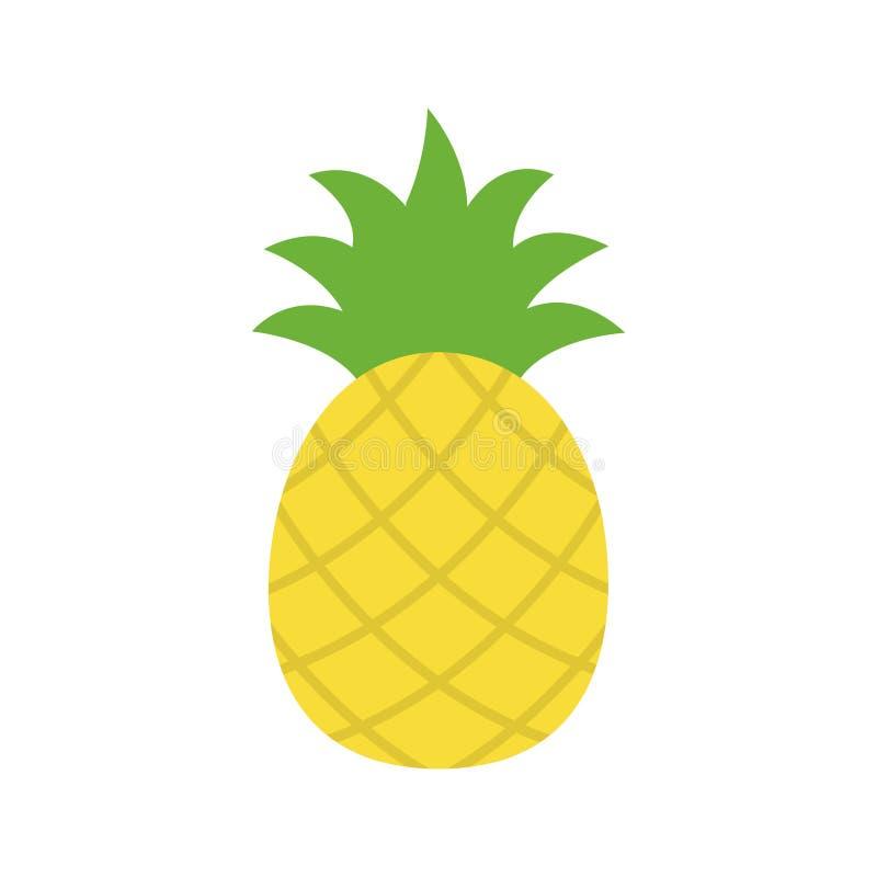 Pineapple tropical summer pineapple fruit royalty free illustration