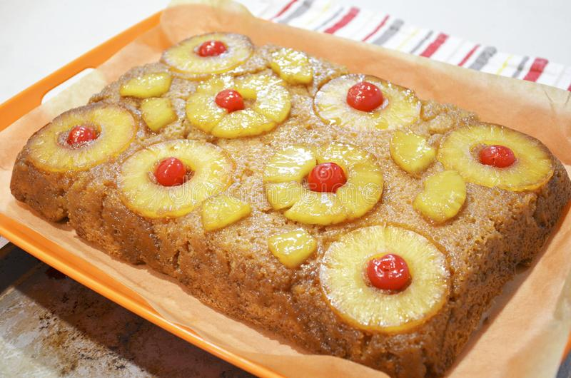 Pineapple Upside Down Cake stock photography