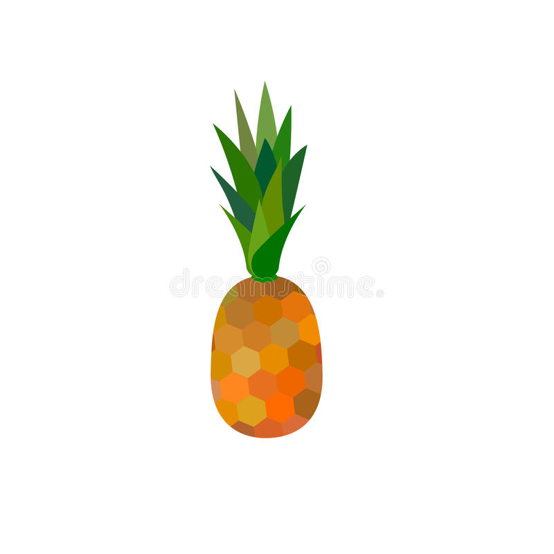 Pineapple vector on white bavkground royalty free stock images