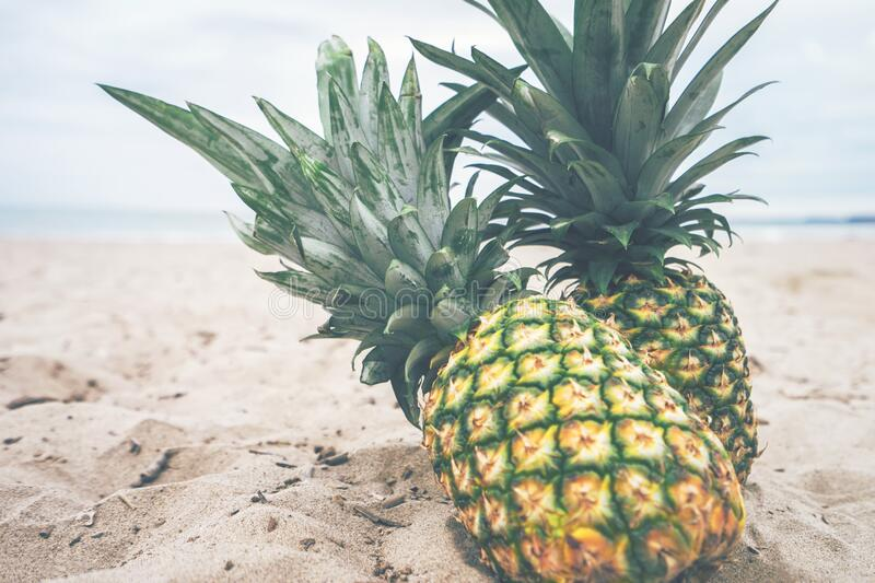 Pineapples On A Beach Free Public Domain Cc0 Image