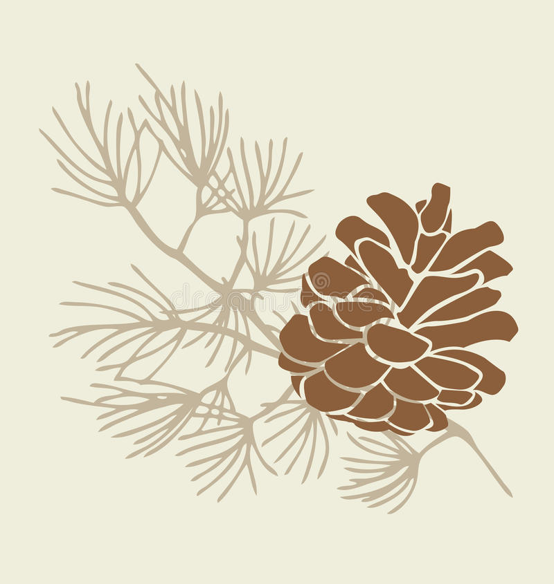 Pinecone stock abbildung