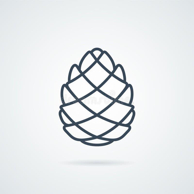 Pinecone linii ikony wektor zdjęcie stock