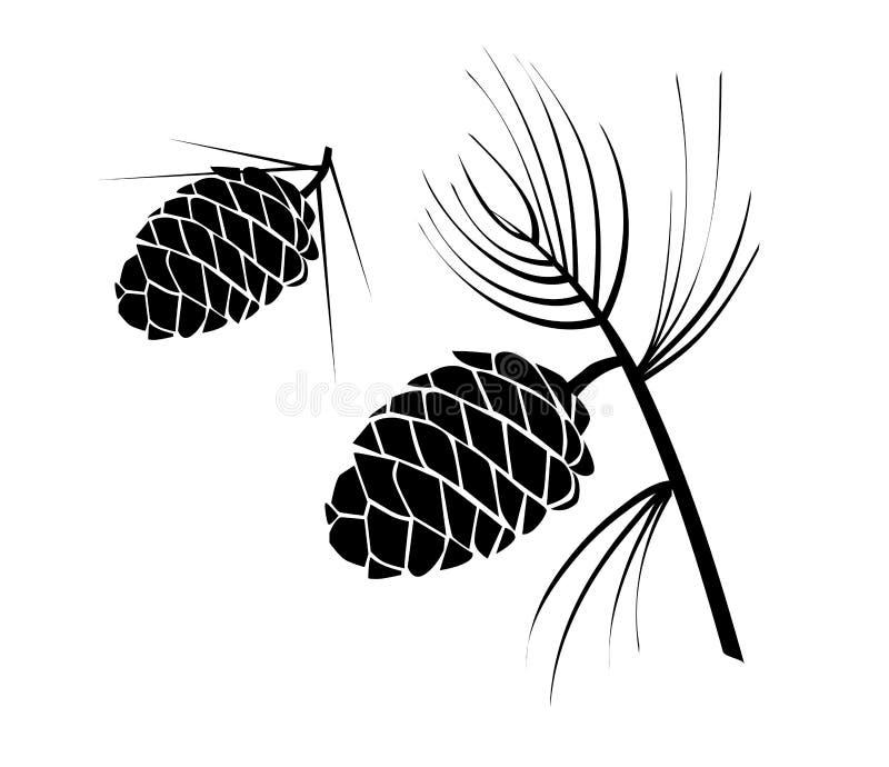 Pinecones stock de ilustración