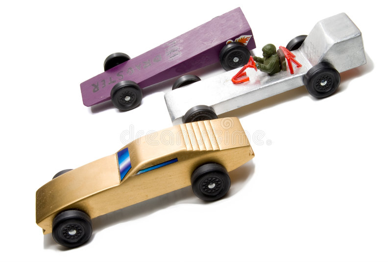 Pinewood Derby royalty free stock image