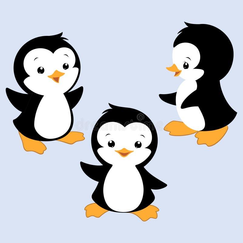 Pingüino de la historieta ilustración del vector