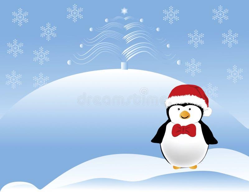 Pingüino de la Navidad libre illustration