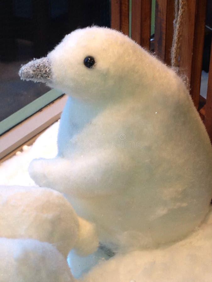 Pingüino de la Navidad del bebé foto de archivo libre de regalías