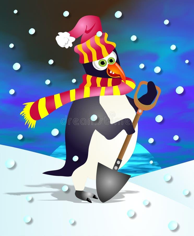 Pingüino de Percy stock de ilustración