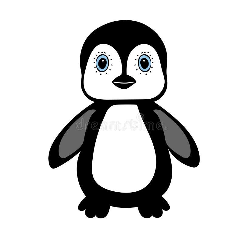 Pingüino del bebé que coloca el animal lindo stock de ilustración